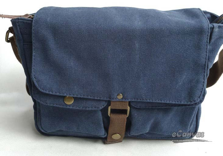 Canvas Messenger Bag Mens Shoulder Blue