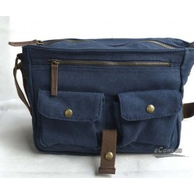 messenger bag, mens shoulder bag blue