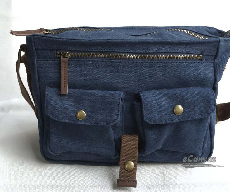 Canvas messenger bag, mens shoulder bag,6 colors - E-CanvasBags