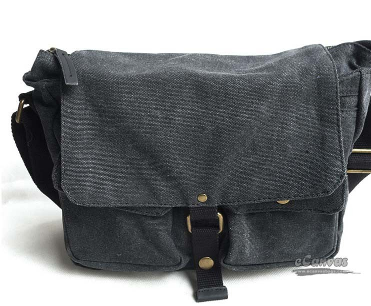 Canvas Messenger Bag Mens Shoulder Grey