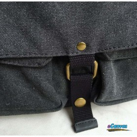 Canvas shoulder bag grey