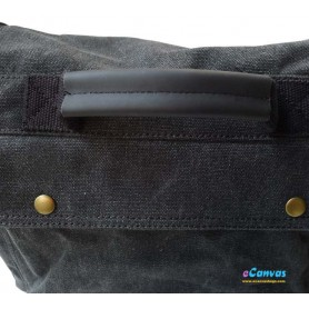 Canvas shoulder bag grey