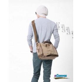 Canvas  shoulder bag khaki