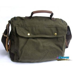 Canvas shoulder bag green