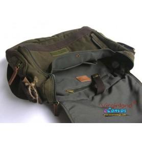 Canvas briefcase for men green