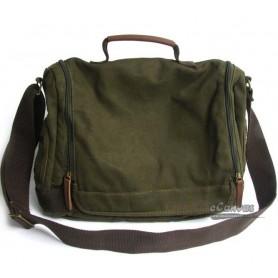 Canvas men shoulder bag green