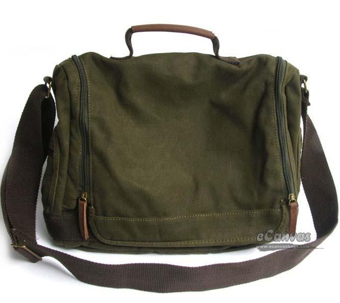 Canvas briefcase for men, shoulder bag, 5 colors - E-CanvasBags