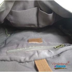 Canvas men shoulder bag army green