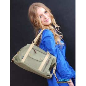 side bag for women army green
