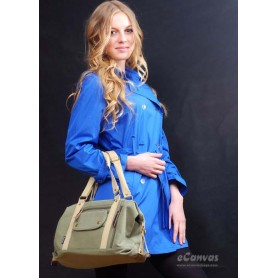 Canvas side bag army green