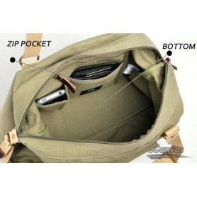 casual side bag for women army green