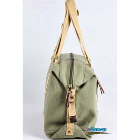 Canvas side bag ladies army green