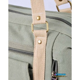 Canvas handbag for women army green