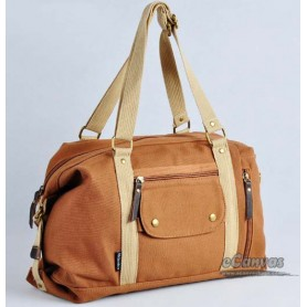 Canvas side bag for women yellow