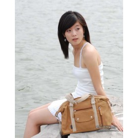 Canvas side bag yellow