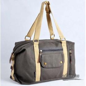Canvas side bag for women dark grey