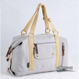 Canvas side bag for women grey