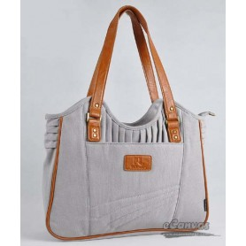 Womens business tote bag grey