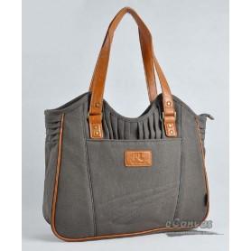 Womens business tote bag dark grey