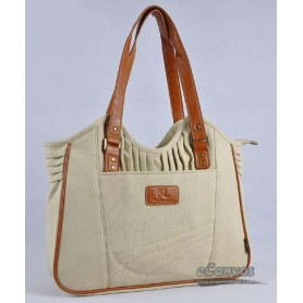 Womens business tote bag beige