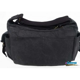 canvas mens shoulder bag grey