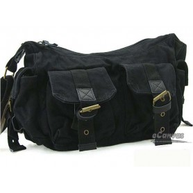 black canvas utility bag