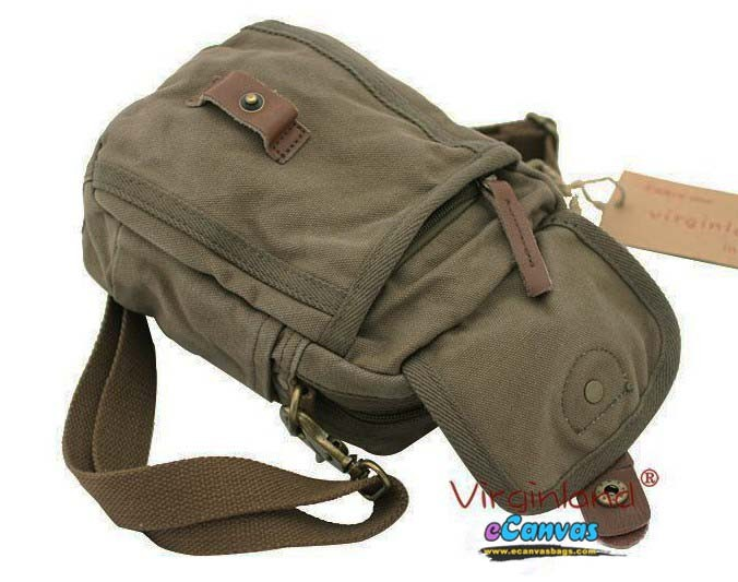 Mini pack, fanny pack, canvas messenger bag for men 3 colors - E ...