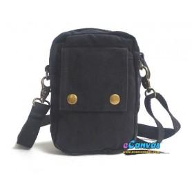 black canvas messenger bag pack