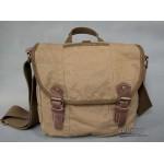 Retro messenger bag, canvas cross body pouch khaki black