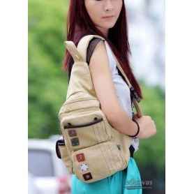 Messenger sling bag khaki for women
