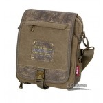 khaki Distressed multi pocket mens bag