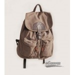 coffee  Leisure handbag canvas backpack schoolbag