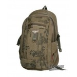 Mens vintage laptop backpack, weekend backpack, canvas packsack 3 colors