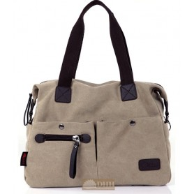 khaki messenger tote bag