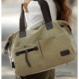 canvas messenger tote bag