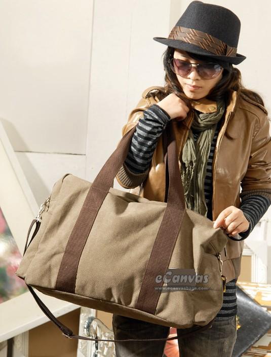 Black messenger bag, girls travel bag, canvas big shoulder bag 5 ...