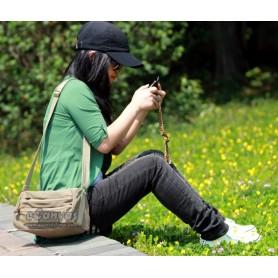 khaki messenger bag women