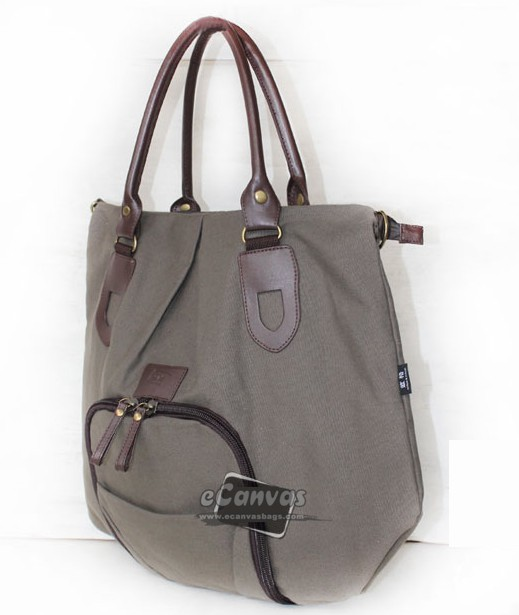 Canvas handbag, messenger diaper bag, cute messenger bag 4 colors - E-