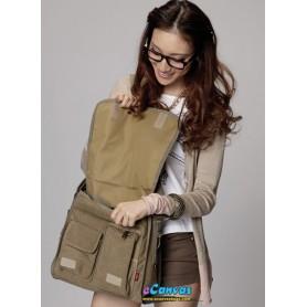 womens khaki canvas mail bag