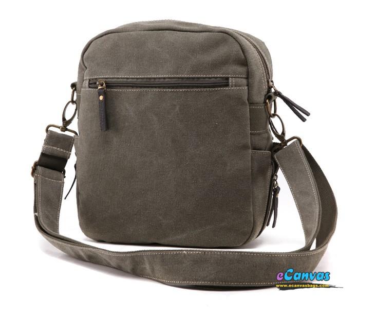 Top zip laptop crossbody bag, army green 12