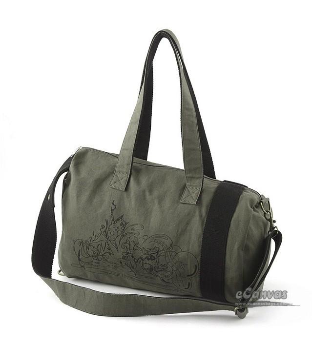 Shoulder messenger canvas bag, cotton canvas bag, travel shoulder ...