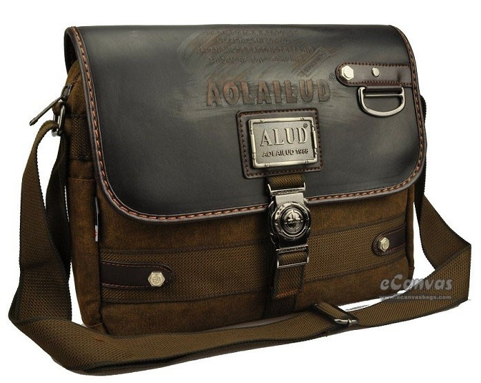 Canvas messenger bag for men, coffee business bag, best briefcase ...