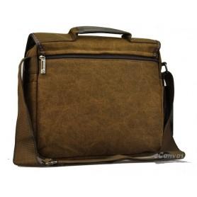 mens canvas coffee antique briefcase