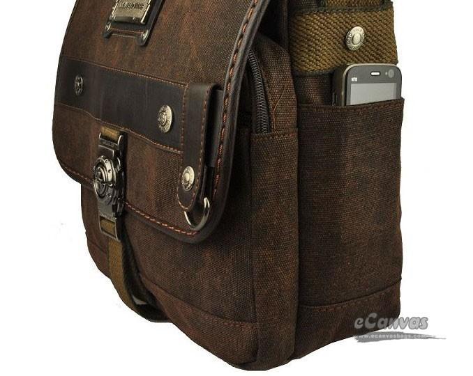 Canvas man bag, flap messenger bag, coffee vintage shoulder bag ...