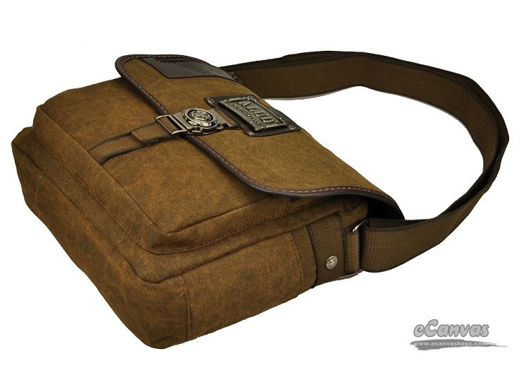 Canvas satchel bag, coffee mens briefcase, book bag - E-CanvasBags