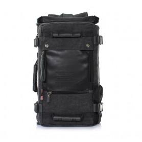 Canvas rucksack, black 16 inch laptop backpack, multi pocket back pack purse