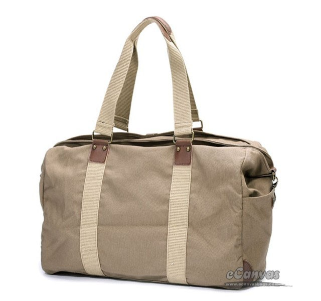 Carry-all vintage carrier, travel top zip flight tote, khaki ...