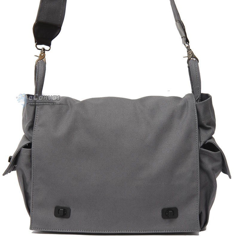 Black shoulder bag, canvas book bag, canvas tote bag - E-CanvasBags