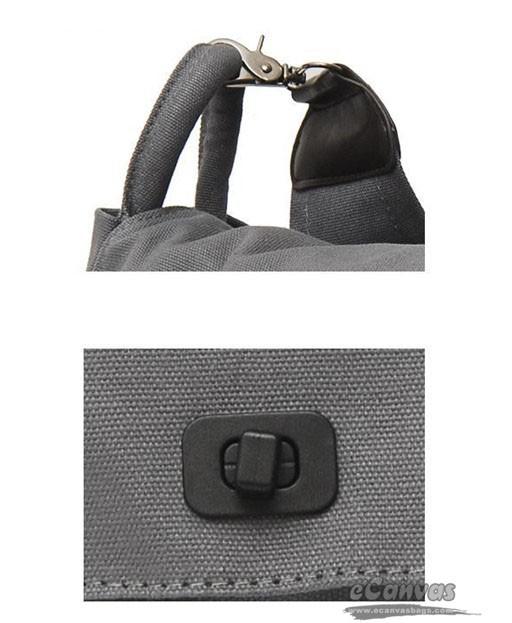 Black shoulder bag, canvas book bag, canvas tote bag - E-CanvasBags
