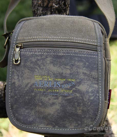 Men Canvas Messenger Bag Shoulder Army Green